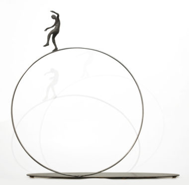 """Ripple,"" by Janis Woode steel, steel wire - 28"" (H) x 29"" (L) x 5"" (W) $2800"