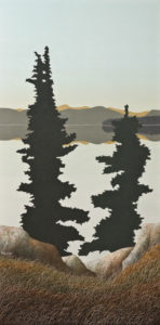 """Sentinels,"" by Ken Kirkby 20 x 40 - oil $2400 Unframed"