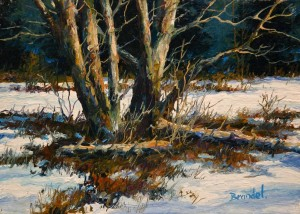 """Sleeping Alders,"" by Merv Brandel 5 x 7 - oil $790 Unframed $950 Custom framed"