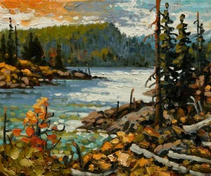 "SOLD ""Sunshine Coast,"" by Rod Charlesworth 10 x 12 – oil $1035 Unframed $1270 Custom framed"