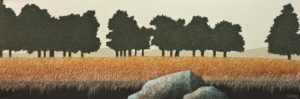 """Tree Line,"" by Ken Kirkby 12 x 36 - oil $1300 Unframed"