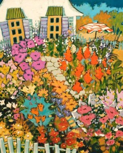 """Amélie Nous Attend au Jardin,"" by Claudette Castonguay 16 x 20 - acrylic $800 Unframed"