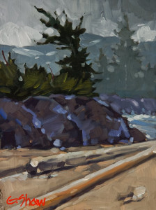 "SOLD ""At the Limit,"" by Graeme Shaw 6 x 8 – oil $435 Unframed"