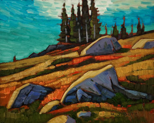 "SOLD ""Bald Mountain Slope"" by Nicholas Bott 8 x 10 - oil $1040 Unframed $1240 in show frame"
