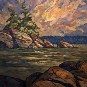 "SOLD ""Canadian Sculpture,"" by Phil Buytendorp 30 x 30 – oil $2970 Unframed"
