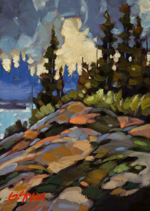 "SOLD ""Clearing Weather"" by Graeme Shaw 5 x 7 - oil $390 Unframed $560 in show frame"