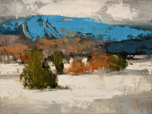 "SOLD ""Coeur de l'Hiver 2,"" by Robert P. Roy (Heart of Winter 2) 9 x 12 – oil $450 Unframed"