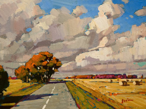 "SOLD ""The Drive,"" by Min Ma 6 x 8 – acrylic $590 Unframed"