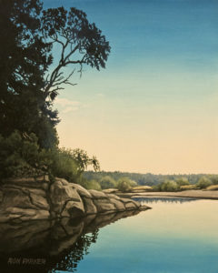 """Edge of the Lagoon,"" by Ron Parker 8 x 10 - oil $1050 Unframed $1275 Custom framed"