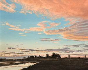 """Estuary Evening,"" by Ron Parker 24 x 30 - oil $4100 Unframed"