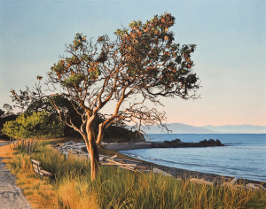 "SOLD ""Evening Arbutus,"" by Ron Parker 22 x 28 – oil $3950 Unframed"
