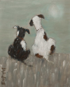 "SOLD ""Forever Friends,"" by Bev Binfet 8 x 10 – oil $370 Unframed $470 in show frame"