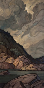 "SOLD ""Hillside Silhouette,"" by Phil Buytendorp 12 x 24 – oil $1350 Unframed"