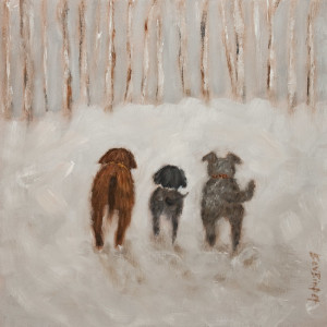 "SOLD ""I Know the Way,"" by Bev Binfet 12 x 12 - oil $520 Unframed $640 in show frame"