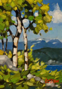 "SOLD ""In the Summer Breezes"" by Graeme Shaw 5 x 7 - oil $390 Unframed $560 in show frame"