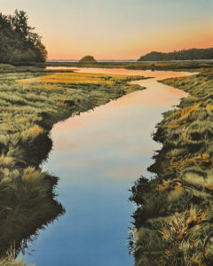 """Just Before Sunrise,"" by Ron Parker 24 x 30 - oil $4100 Unframed"