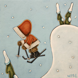 "SOLD ""Liftoff"" by Peter Wyse 8 x 8 - acrylic $540 (unframed panel with 1 1/2"" edging) $625 in show frame"