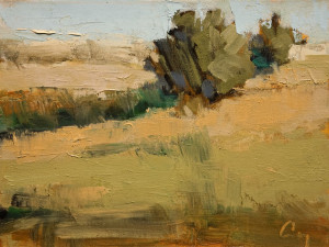 """Ombrage,"" by Robert P. Roy (Shadows) 9 x 12 - oil $450 Unframed"