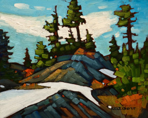 "SOLD ""On the Summit"" by Nicholas Bott 8 x 10 - oil $1040 Unframed $1240 in show frame"