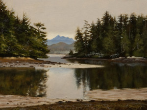 "SOLD ""Silent Inlet"" by Ray Ward 6 x 8 - oil $620 Unframed $780 in show frame"