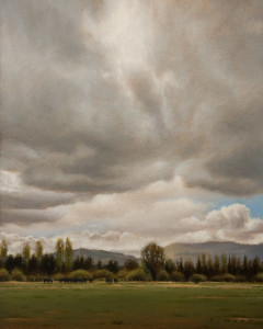 "SOLD ""Summer Storm"" by Ray Ward 8 x 10 - oil $780 Unframed $980 in show frame"