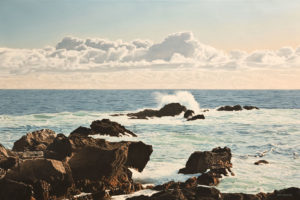 "SOLD ""Ucluelet Afternoon,"" by Ron Parker 24 x 36 – oil $4800 Unframed"