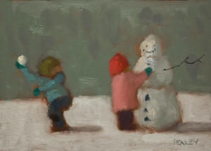 "SOLD ""Unsuspecting"" by Paul Healey 5 x 7 - oil $275 Unframed $450 in show frame"