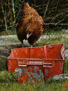 "SOLD ""Where's My Lunch?"" by Alan Wylie 9 x 12 - oil $1540 Unframed $1760 in show frame"