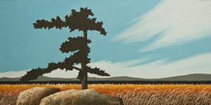 """At the Edge of a Marsh,"" by Ken Kirkby 12 x 24 - oil $850 Unframed"