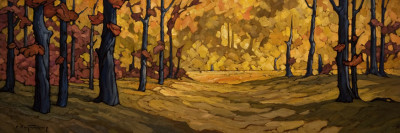 "SOLD ""The Field Beyond,"" by Phil Buytendorp 12 x 36 - oil $1765 in show frame $1440 Unframed"