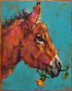 """Just Dandy,"" by Angie Rees 8 x 10 - acrylic $575 (unframed panel with 1 1/2"" edges)"