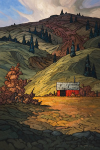 "SOLD ""Near Kamloops,"" by Phil Buytendorp 24 x 36 - oil $3100 in show frame $2640 Unframed"