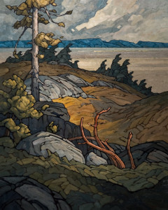 "SOLD ""November on Harrison,"" by Phil Buytendorp 24 x 30 - oil $2520 in show frame $2090 Unframed"