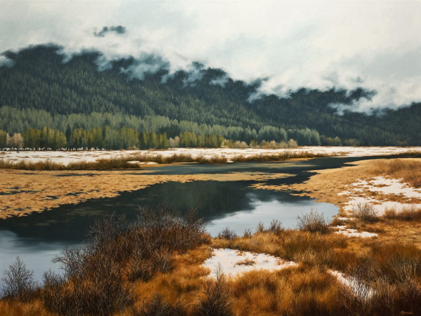 """Paradise Valley,"" by Merv Brandel 36 x 48 - oil $8625 (thick canvas wrap without frame)"
