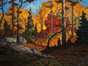 "SOLD ""Path and Gully,"" by Phil Buytendorp 36 x 48 - oil $5690 in show frame $5340 in standard frame $4675 Unframed"