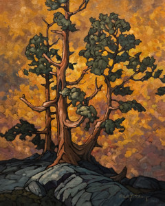 "SOLD ""Pine and Aspen,"" by Phil Buytendorp 16 x 20 - oil $1600 in show frame $1330 Unframed"