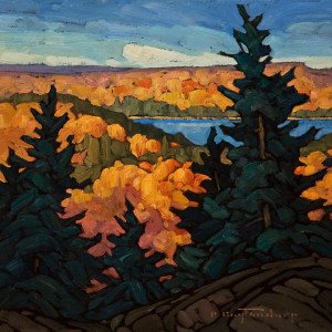 "SOLD ""Tea Pot Lake,"" by Phil Buytendorp 10 x 10 - oil $785 in show frame $590 Unframed"