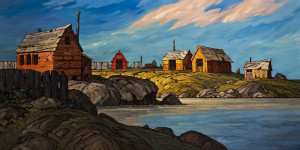 "SOLD ""With Our Backs to the Wind,"" by Phil Buytendorp 24 x 48 - oil $3720 in show frame $3270 Unframed"