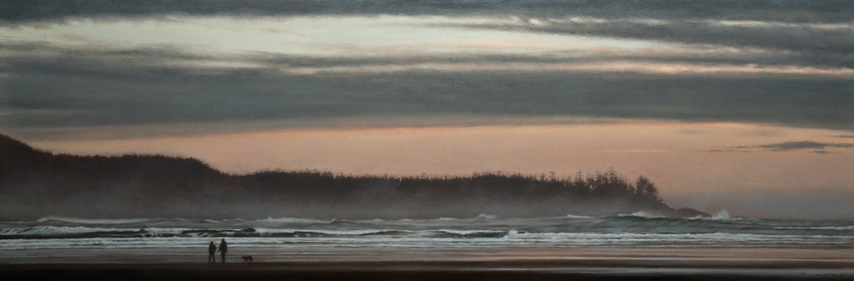 "SOLD ""After the Storm,"" by Ray Ward 12 x 36 - oil $1800 Unframed $2150 Custom framed"
