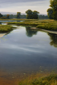 "SOLD ""August Backwater,"" by Renato Muccillo 16 x 24 - oil on canvas $3570 in show frame"