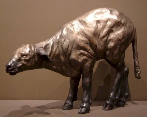 """Baby Lamb,"" by Nicola Prinsen Bronze - 15"" high Edition of 9 $5800"