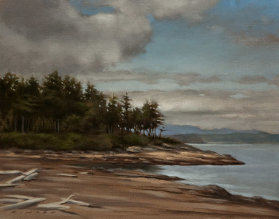 "SOLD ""Berry Point (location study),"" by Ray Ward ON-LOCATION STUDY 8 x 10 - oil $520 Unframed $700 Custom framed"