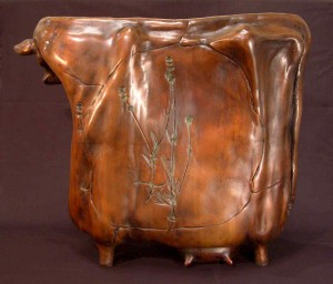 """Radiant Cow,"" by Nicola Prinsen Bronze - 18 1/2"" high x 21"" long Edition of 5 $6900"