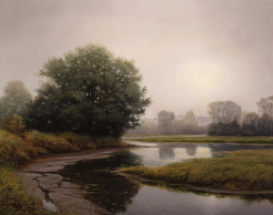 "SOLD ""Early Autumn Skies,"" by Renato Muccillo 22 x 28 - oil $4475 in show frame"