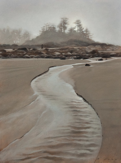"SOLD ""Fog Light,"" by Ray Ward 9 x 12 - oil $750 Unframed $950 Custom framed"