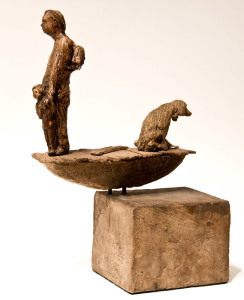 """The Life,"" by Michael Hermesh 11"" (L) x 15"" (H) - ceramic $2500"