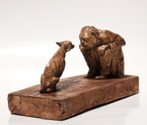 "SOLD ""The Longer Moment,"" by Michael Hermesh 12 (L) x 6"" (H) - ceramic $1850"