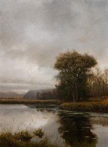 "SOLD ""Northern View - Grant Narrows,"" by Renato Muccillo 11 x 15 - oil on mounted panel $2670 in show frame"