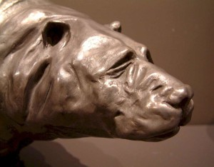 """The Old Bear,"" by Nicola Prinsen Bronze - 12"" high x 18"" long Edition of 9 $4500"