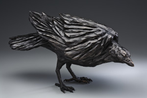 """Raven II,"" by Nicola Prinsen 12"" (H) x 24"" (L) - bronze Edition of 15 $5600"